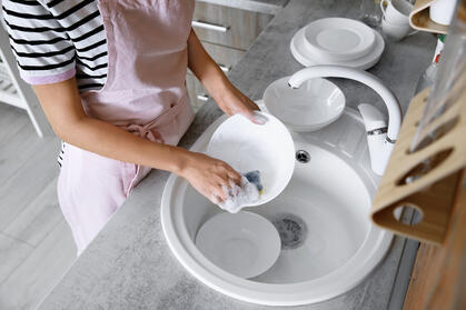 bigstock-Woman-Washing-Dishes-In-Kitche-269491555